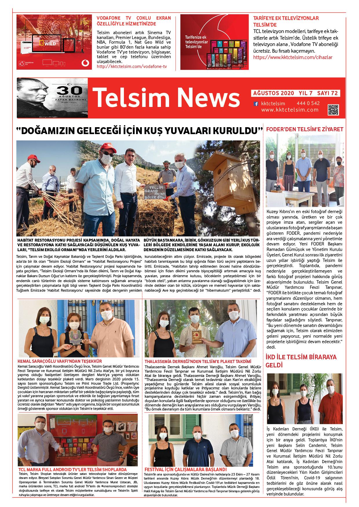 Telsim News Ağustos 2020