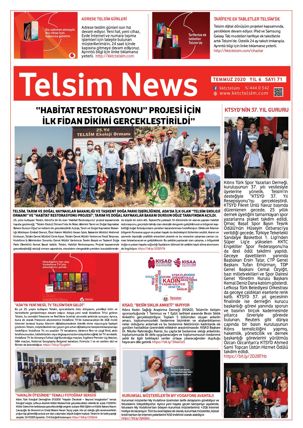 Telsim News Temmuz 2020