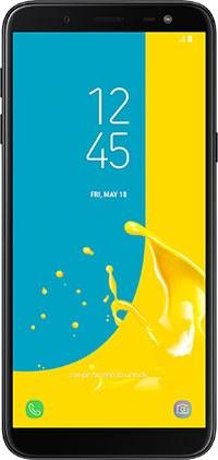 Samsung Galaxy Black J6 On